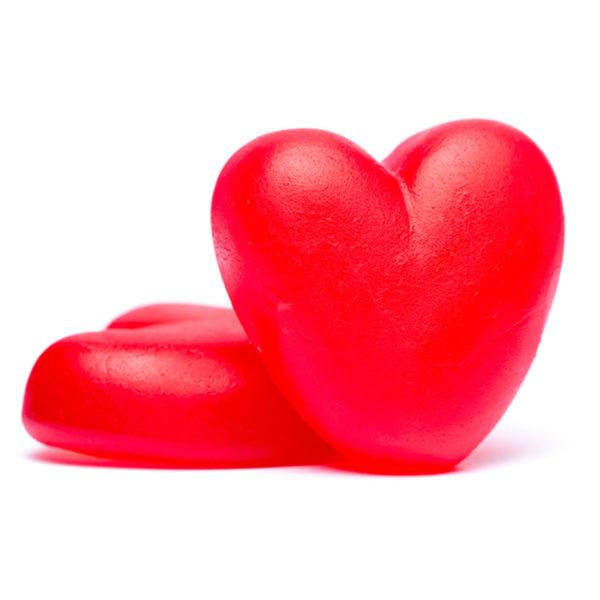 raspberry gummy hearts