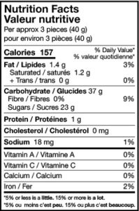 sour tongues nutrition facts