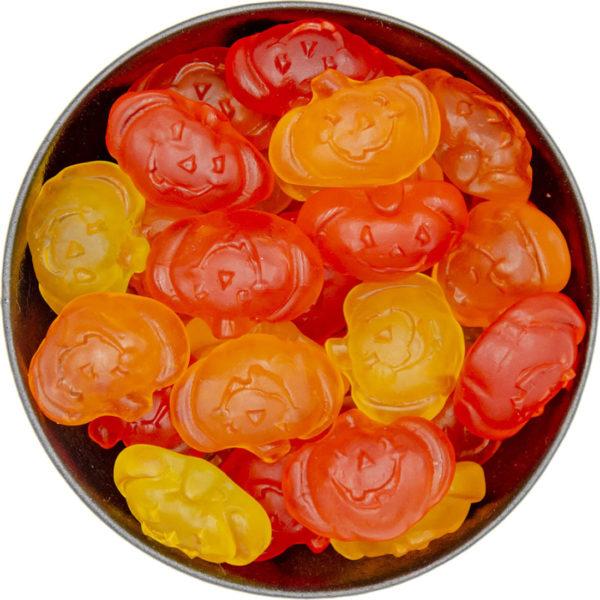 triple flavour gummi pumpkins
